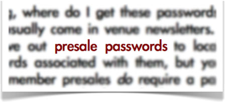 presale passwords