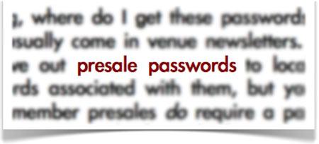 presale passwords