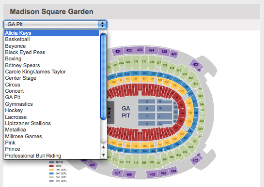 Ticketmaster Seating Charts