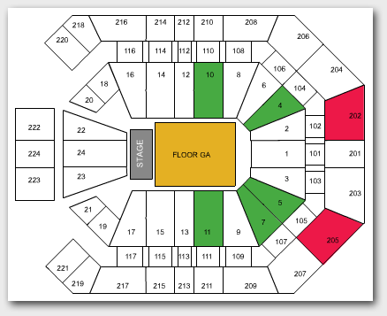 StubHub Seating Chart